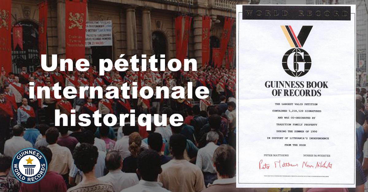 Une pétition internationale historique - « … le sourire des sceptiques n'a jamais pu arrêter la marche victorieuse des hommes qui ont la foi. »