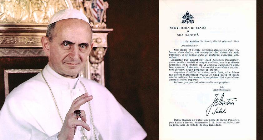 1 Lettre de Monseigneur Montini à PCO - Documents historiques