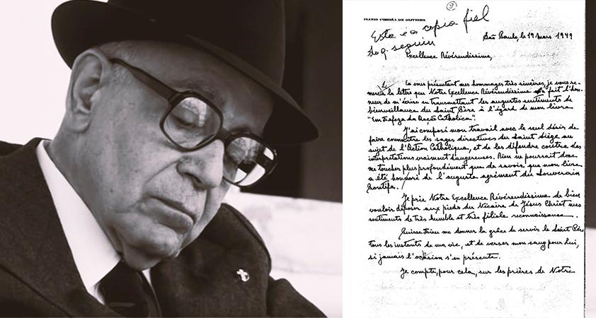 2 PCO remercie à Mgr Montini - Documents historiques