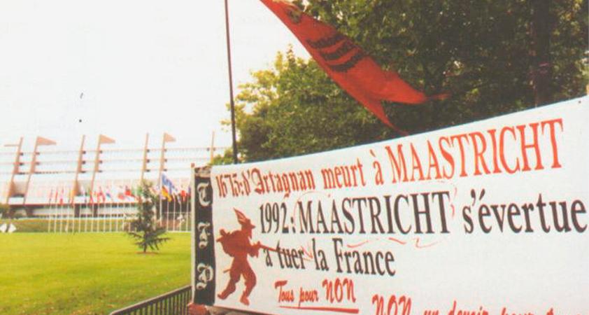 4 Un manifeste de la TFP contre le traité de Maastricht - Documents historiques