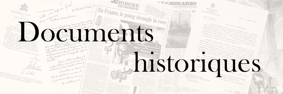 Documents historiques - QU'EST-CE QUE LA TFP