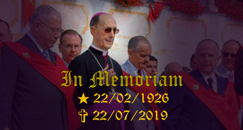 Mgr Laise TFP - + In Memoriam S. Exc. Monseigneur Juan-Rodolfo LAISE (1926-2019)