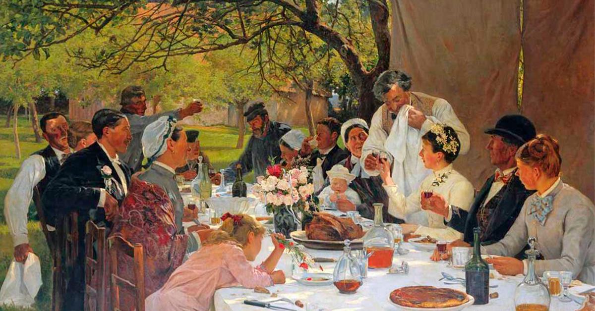 Repas de noces à Yport Albert Auguste Fourié 1886 - QU'EST-CE QUE LA TFP