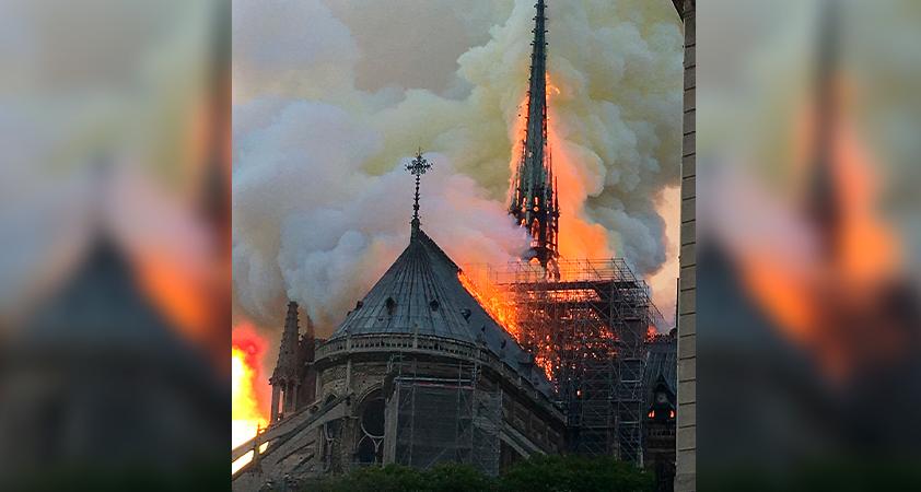 Notre Dame en flammes - Notre-Dame de Paris en flammes
