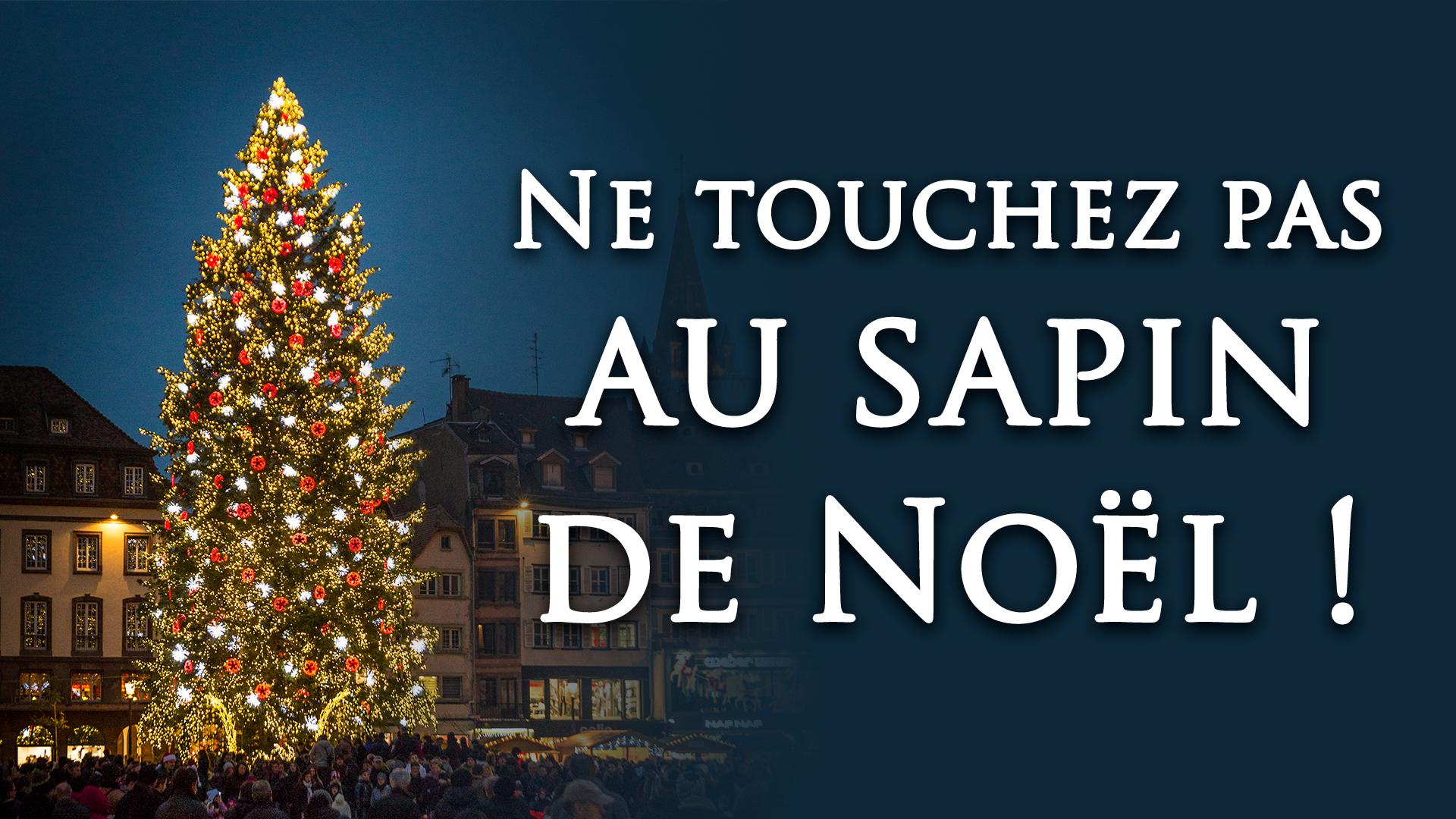 Ne touchez pas au sapin de Noel grande - Accueil